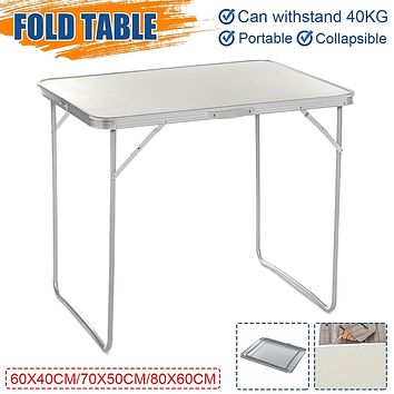 3 sizes Portable Foldable Table Aluminium Alloy Folding Table for Outdoor Beach Picnic Hiking Camping with Carrying Handle