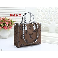 LV ONTHEGO 2019 new old flower color matching women's shopping canvas handbag #1