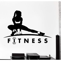 Wall Vinyl Decal Fitness Girl Sport Gym Bodybuildng Home Interior Decor Unique Gift z4193