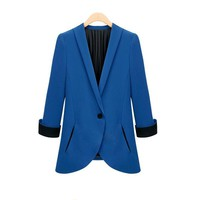 Womens Blazer 2018 New Spring Casual Small Suit Female Suits Women Coat Blazers Shorts Single Breasted Basic Jackets WWT9673