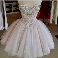Deluxe Sweetheart Lace Homecoming Dress Fast Free Shipping