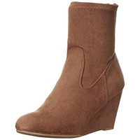 Chinese Laundry Womens Upscale Faux Suede Ankle Wedge Boots