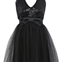 Petites Sequin Bow Tutu Dress - View All  - New In