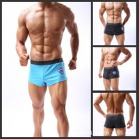 Trunks Cotton Underwear Men Men's Boxer Briefs Sports Shorts Soft Underpants S M L