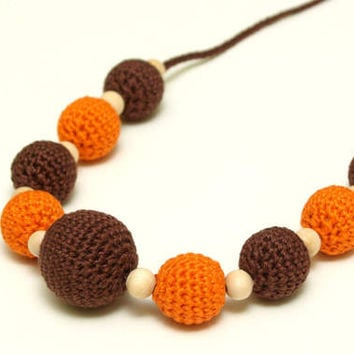 nursing necklace, teething necklace, mommy and baby teething necklace, breastfeeding necklace,