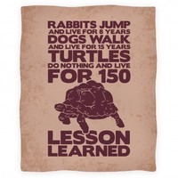 Turtles Do Nothing And Live For 150 Years Blanket (Earth)