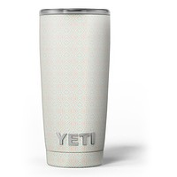 The All Over Vintage Tan Aztec Pattern - Skin Decal Vinyl Wrap Kit compatible with the Yeti Rambler Cooler Tumbler Cups