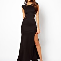 TFNC Maxi Dress with Lace Back and Fishtail at asos.com