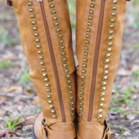 Talk Of The Town Boots: Cognac | Hope's