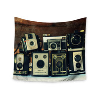 """Robin Dickinson """"Through the Years"""" Vintage Camera Wall Tapestry"""