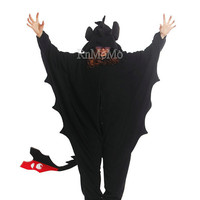 KIGURUMI Cosplay Romper Charactor animal Hooded Nightclothes Pajamas Pyjamas Costume sloth  outfit Sleepwear-Toothless