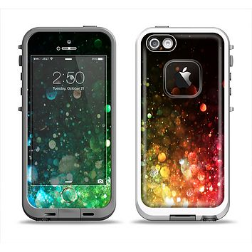 The Neon Glowing Grunge Drops Apple iPhone 5-5s LifeProof Fre Case Skin Set