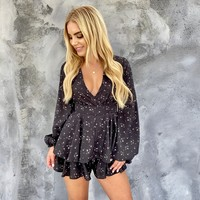 My Floral Story Ruffle Romper