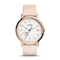 Vintage Muse Blush Leather Watch - $125.00