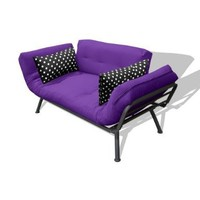 American Furniture Alliance Modern Loft Collection Futon Mali Flex Combo, Purple/Black Polka Dot:Amazon:Home & Kitchen