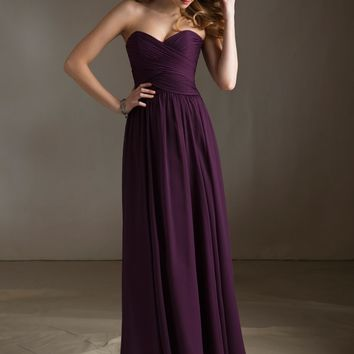 Chiffon Bridesmaid Dress with Sweetheart Neckline   Style 20411   Morilee