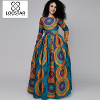 """DESTA"" Dashiki Print Dress (Plus Sizes Available)"