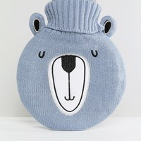 Paperchase Christmas Bear Hot Water Bottle at asos.com