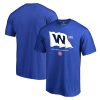 Chicago Cubs Royal 2016 World Series Champions Win Flag T-Shirt