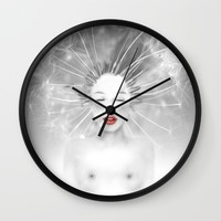 Connexion Wall Clock by LilaVert | Society6