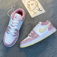 NIKE SB Dunk Low High colorblock low-top men's and women's sneakers Shoes Pink