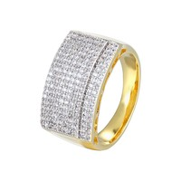 Custom Men's  14k Gold Finish Designer Ring