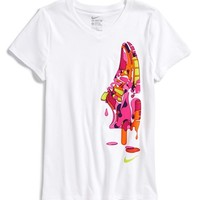 Girl's Nike 'Free' V-Neck Graphic Tee,