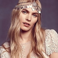 Free People Womens Dripping Coins Headpiece