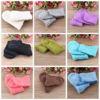 2016 Winter Fashion Womens Casual Fuzzy Thick Warm Candy Colors Slipper Socks Ladies Girls Hosiery