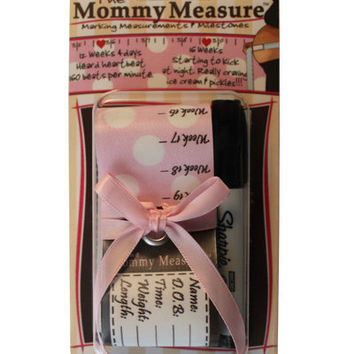 The Mommy Measure: Pink with White Polka Dots