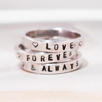 Custom Stamped Silver Ring