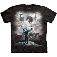 SUMMONING THE STORM The Mountain Native American Indian Horse T-Shirt S-3XL NEW