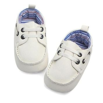 Double Inner Soft Sole Leather Baby Shoes
