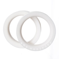 White Silicone Tunnels Plugs (Supersize) (28.5mm-51mm)
