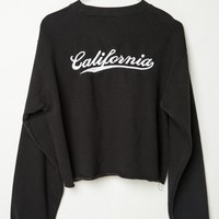 NANCY CALIFORNIA EMBROIDERY SWEATSHIRT