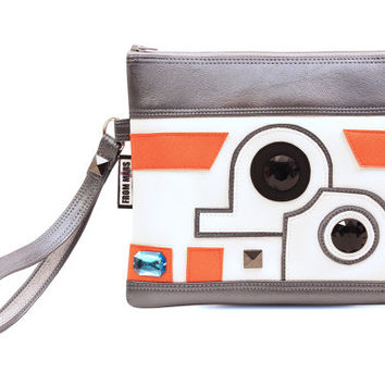 The Droid You're Looking For Clutch Bag With Wristlet | Star Wars BB-8 Inspired | Purse | Geek Chic