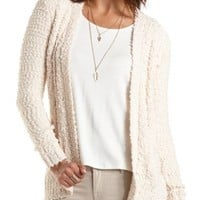 Cable Knit Boucle Cardigan by Charlotte Russe