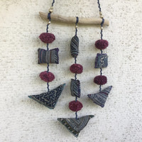 Driftwood Bohemian Mobile, SMALL Beach House Hanging Wall Decor, Eco Friendly Recycled Ornament