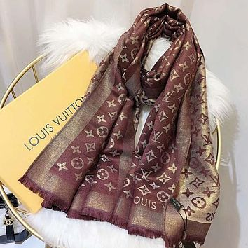 LV Louis Vuitton classic ladies scarf autumn and winter warm wind shawl 2