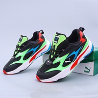 Puma Rise Neon fashion men's and women's retro casual old shoes sneakers