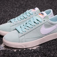 DCCK2 N285 Nike W Blazer Low SD Suede Skate Shoes Mint Green