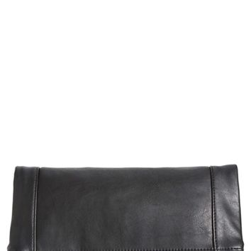 Sole Society Faux Leather Foldover Clutch