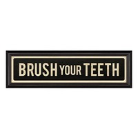 Spicher and Company 'Brush Your Teeth' Vintage Look Sign Artwork
