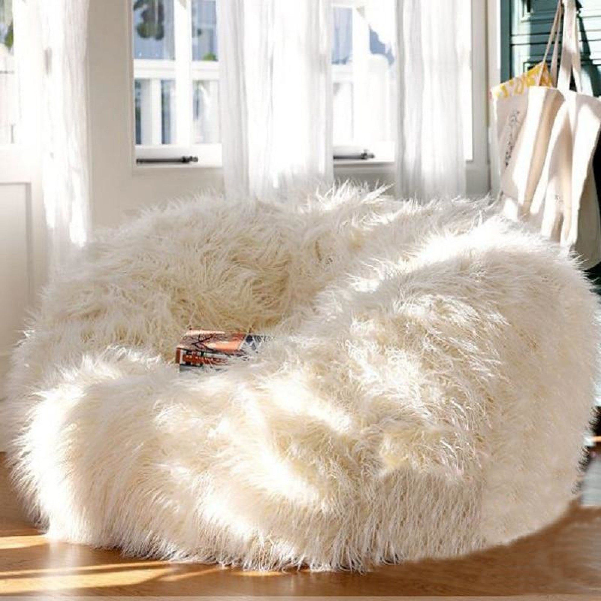 Image of Cozy Bean Bag Extra Soft Lounger Cover