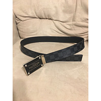 Louis Vuitton Inventeur Belt Graphite Damier Black size 32. GREAT shape.