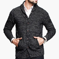 Mens Fashionable Zip-Up Sweater