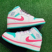 "Air Jordan 1 Mid ""Milan"" High-Top Men's and Women's Sneakers Shoes"