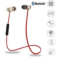 Bluetooth Headset, SmartBB(TM)Wireless Neckband Bluetooth Headset, Sweatproof V4.1 APT-X Noise Cancelling Headphones Earphones with Microphone & Stereo for Gym Sport(red)