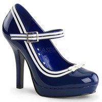 Secret Navy Patent Baby Doll Pumps