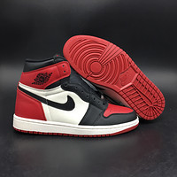 "Air Jordan 1 ""Black Toe"" 555088-610"